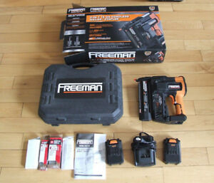 Freeman Cordless Nail Gun, 18V, Brad Nailer, Works Great