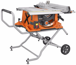 Ridgid R4510 Table Saw with Stand For Rent