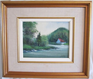 PEINTURE ORIGINALE ENCADRÉE - S. HILL - FRAMED ORIGINAL PAINTING
