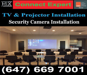 Professional TV Wall mounting service, Call or Text 647-669-7001