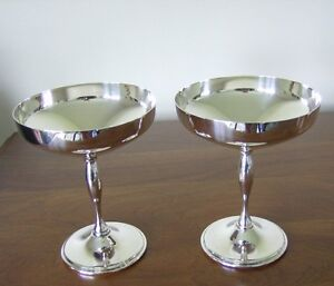 Vintage Silver Plate Champagne Coupes (1970s)