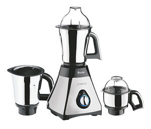 Preethi Steele Mixer Grinder with Turbo Vent and Improved Couple