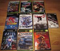 Jeux vidéo XBox 360, XBox, Gamecube, PS2, PSP