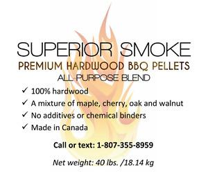 Hardwood cooking pellets. Smoke. BBQ. Grill. $30.00/40lbs