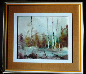 "Original Oil Landscape by W P Gamon ""Early Spring"" Stratford Kitchener Area image 1"
