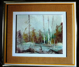 "Original Oil Landscape by W P Gamon ""Early Spring"""