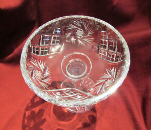 Vintage Cut Crystal Glass Pedestal Compote/Candy Dish Kitchener / Waterloo Kitchener Area image 3