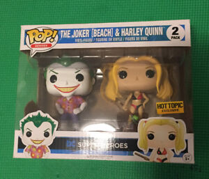 Pop! Funko Harley Quinn and Joker.  POPLAR CRESCENT