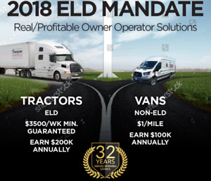 ELD Mandate Solutions; choose Tractor or Van Owner Operator