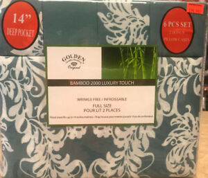 BAMBOO 6 PC SHEET SET FOR $17.99