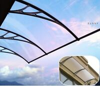 Polycarbonate PC Awning UV Protected Canopy Choose Color & Size