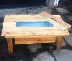 Rustic Coffee Table Cooler