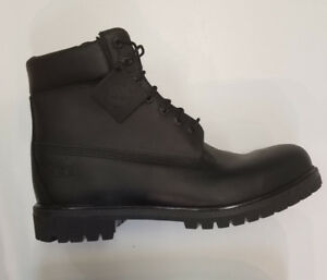 "Size 13 Genuine black 6"" leather timberlands with primaloft"