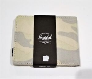 NEW - Herschel Washed Canvas Camo Hank Wallet