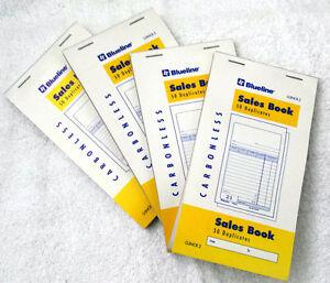 7!! Blueline® 50pp Sales Books (G3NCR2) CARBONLESS Duplicates