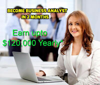 Become Business Analyst in 2 months, 100% Interview, Upto $60 hr