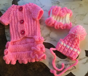 Sweater, hat, scarf