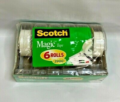 Scotch 6122 Magic Office Tape And Refillable Dispenser Clear - 6 Pack