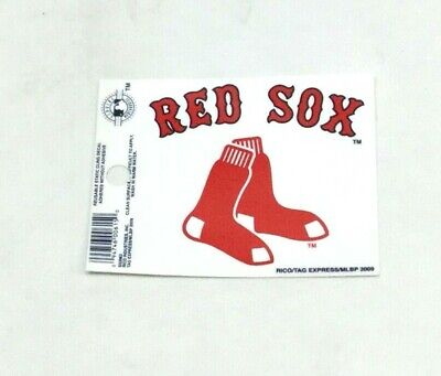 Boston Red Sox Hanging Socks Logo Small Static Cling Window Decal 3x4 Size (Logo Small Window Cling)