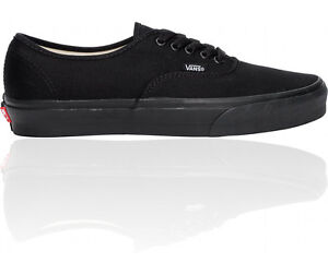 VANS-AUTHENTIC-ALL-BLACK-CANVAS-NEW-IN-BOX-VARIOUS-SIZES-MENS-AND-WOMENS