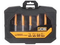 JCB 12.7mm Shank Straight Router Bit, Pack of 5