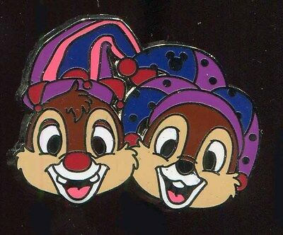 DLR 2015 Hidden Mickey Mardi Gras Chip and Dale Disney Pin 111943