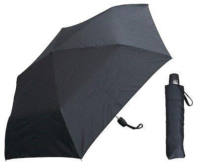 "42"" Black Mini Auto-Auto Rain Umbrella - RainStoppers Rain/Sun UV"