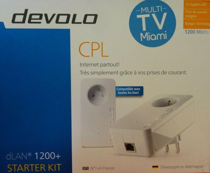 Devolo CPL dLan 1200+ Starter Kit - 1200 Mbits/s *NEUF*