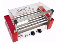 Commercial Stainless Steel Electric Hotdog grill, Hot Dog 7 Rollers,High quality Red