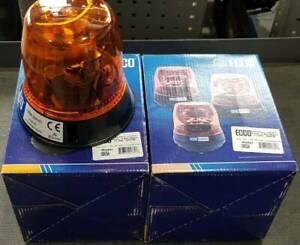 2 x Ecco 5800 Series Amber 12V Flashing Lights