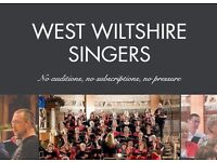 New community choir in Trowbridge, West Wiltshire - no auditions, no subscriptions, no pressure!