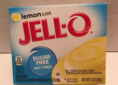 3 X JELL-O Jello Sugar Free LEMON Instant Pudding & Pie OPTIONS (Lemon Pudding Bread)