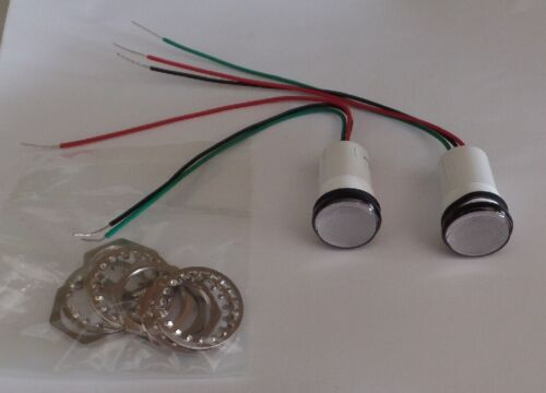 DIALIGHT 557-1412-203F Lot of TWO (2) PANEL MOUNT INDICATOR LIGHTS