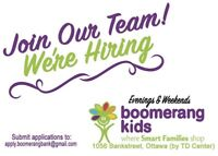 Hiring part time evenings and weekends