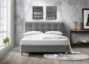 Brand New  Fabric Bed with  Round corner head Frame Springvale Greater Dandenong Preview