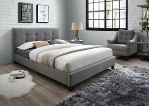 Brand New Grey Fabric Bed Frame in Double and Queen Melbourne CBD Melbourne City Preview