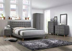 Brand New  Queen Fabric Bed Frame Springvale Greater Dandenong Preview