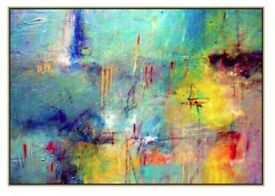 Art- Abstract acrylic painting / canvas
