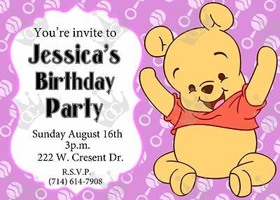 Winnie The Pooh Template That Can Be Used For Bday/Baby Shower Invite