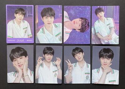 BTS-LOT OF 8 SOWOOZOO 2021 MUSTER OFFICIAL MINI PHOTO CARD SET SUGA DBALL