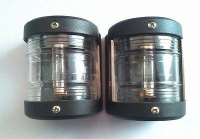 MARINE BOAT YACHT 12V DC MASTHEAD AND STERN NAVIGATION LIGHT ONE PAIR