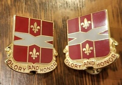 U.S. Army 111th Air Defense Artillery Unit Crest Glory and Honor 2 Pins