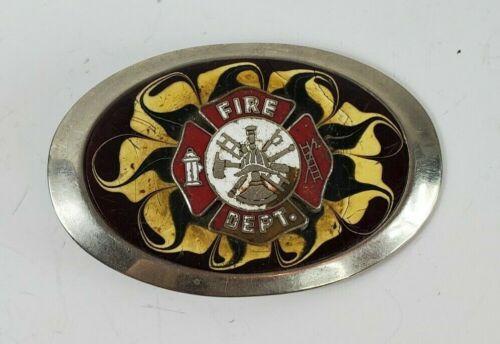 Fire Dept Belt Buckle Smoke Eater Belt Buckle Worn Restoration Project