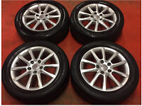 "16"" GENUINE SEAT LEON MK2 ALLOY WHEELS TYRES 5x112 ALTEA TOLEDO CADDY"