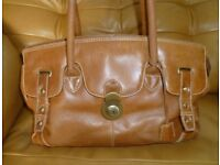 Large Tan Leather Bag: Clarks