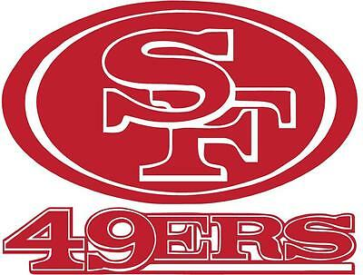 SF 49ERS Football vinyl decal sticker car truck window choose color ()