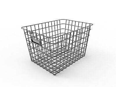 13x9x8 Wire Basket Metal Storage Bin Vintage Wire Organizer Basket Display Bin ()