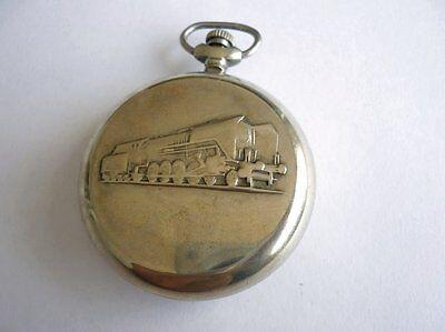 Vintage Pocket Watch Molnia Locomotive Train Railroad 1960's