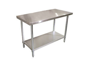 24 x 30 Restaurant Stainless Steel Food Work Prep Table