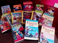 14 assorted Famous Five and Secret Seven books by Enid Blyton
